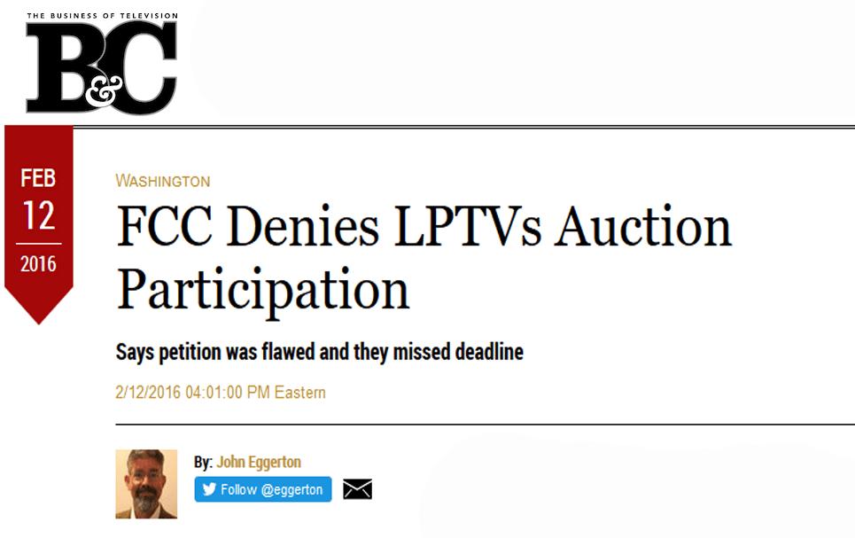 FCC Denies
